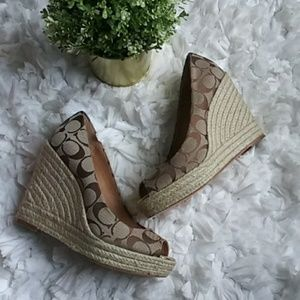 Coach Milan wedges Khaki